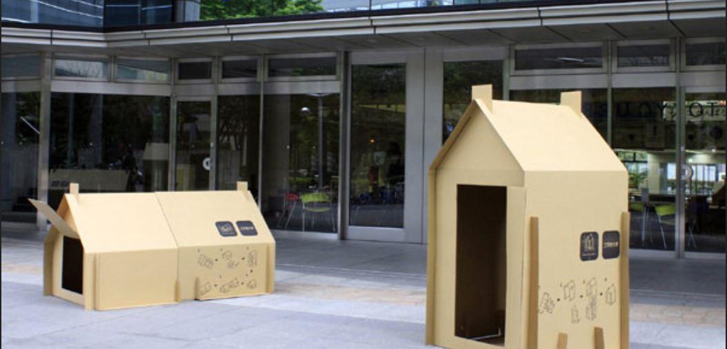 Las casas de cartón pueden convertirse en una vivienda temporal para refugiados