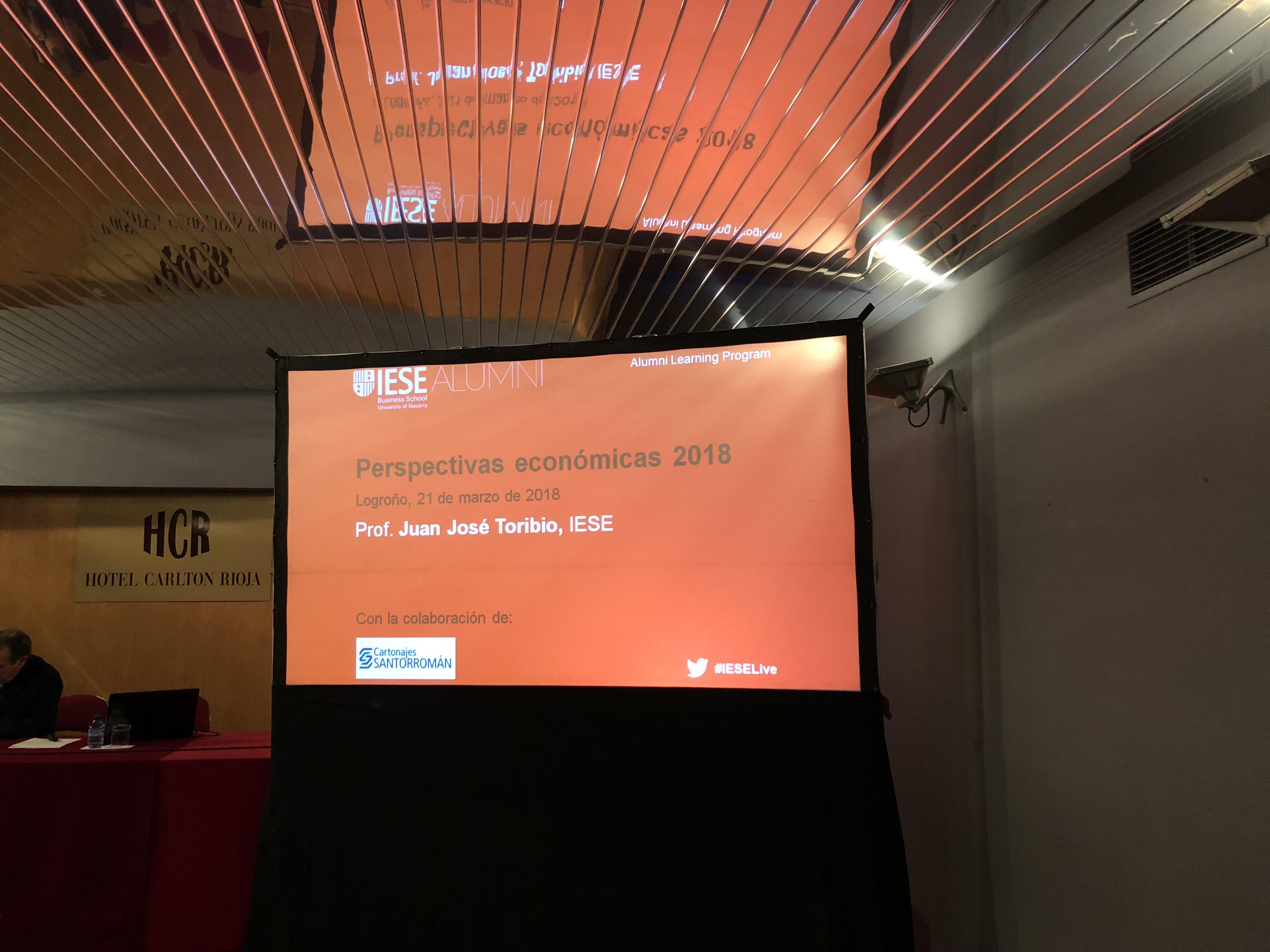 Cartonajes Santorromán patrocina el primer encuentro de IESE en La Rioja